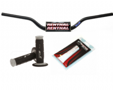 Renthal Fat Bar HandleBars Short Mcgrath Pro Grips Renthal Grip Glue Combo BLK